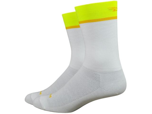 "DeFeet Aireator 6"" Sokken, team defeet/white/hi-vis yellow"